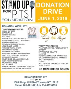 Stand Up for Pits Donation Drive @ Yonkers Animal Shelter | Yonkers | New York | United States